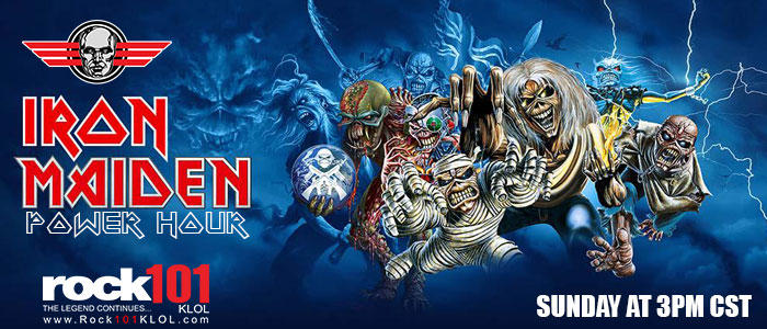 Iron Maiden Power Hour Sundays @ 3PM CST