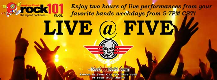 Live @ Five Weekdays at 5PM CST